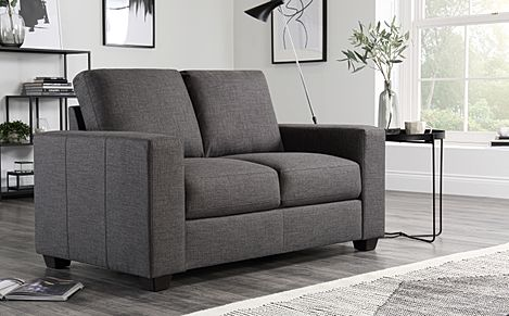 Mission Slate Grey Fabric 2 Seater Sofa