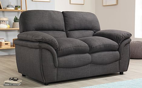 Rochester Slate Grey Fabric 2 Seater Sofa