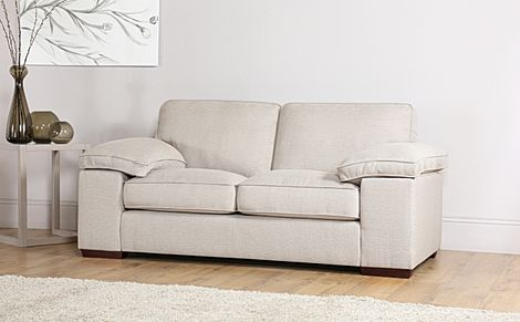 Cassie Linen Fabric 2 Seater Sofa