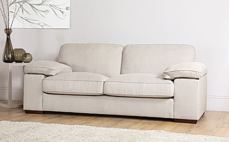 Cassie Linen Fabric 3 Seater Sofa
