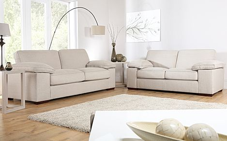 Cassie Linen Fabric 3+2 Seater Sofa Set