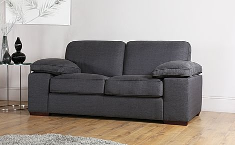 Cassie Charcoal Fabric 2 Seater Sofa