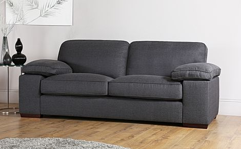 Cassie Charcoal Fabric 3 Seater Sofa