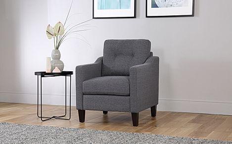 Hepburn Slate Fabric Armchair