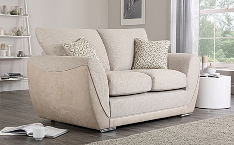 Clement Oatmeal Fabric Sofa 2 Seater