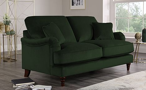 Charleston Emerald Green Velvet Sofa 2 Seater