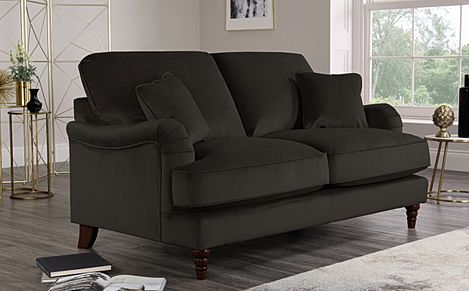 Charleston Charcoal Velvet Sofa 2 Seater