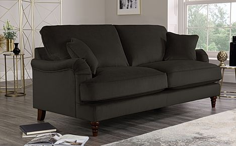 Charleston Charcoal Velvet Sofa 3 Seater