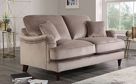 Charleston Mink Velvet Sofa 2 Seater