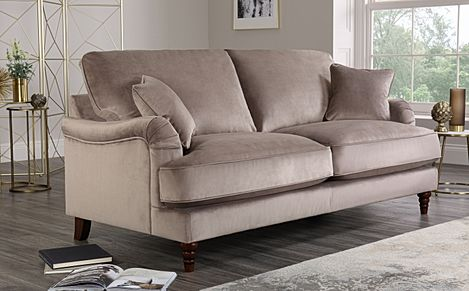 Charleston Mink Velvet 3 Seater Sofa