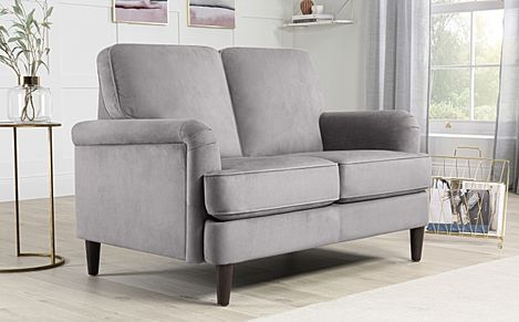Pembroke Grey Velvet 2 Seater Sofa