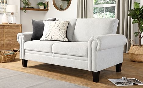 Oakley Dove Grey Plush Fabric 2 Seater Sofa