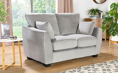 Claremont Grey Velvet 2 Seater Sofa