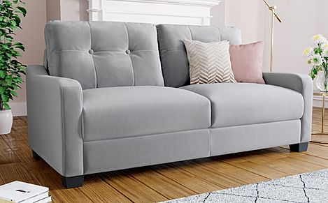 Belmont Grey Velvet 3 Seater Sofa