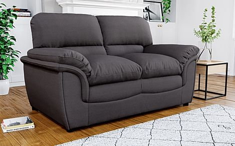 Rochester Charcoal Grey Fabric 2 Seater Sofa