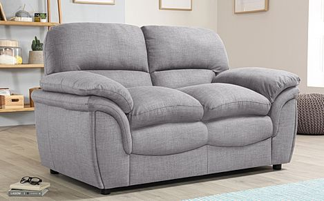 Rochester Grey Fabric 2 Seater Sofa