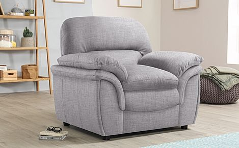 Rochester Grey Fabric Armchair