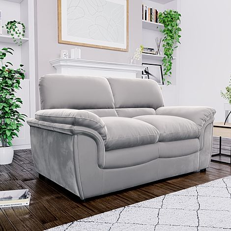 Rochester Grey Velvet 2 Seater Sofa