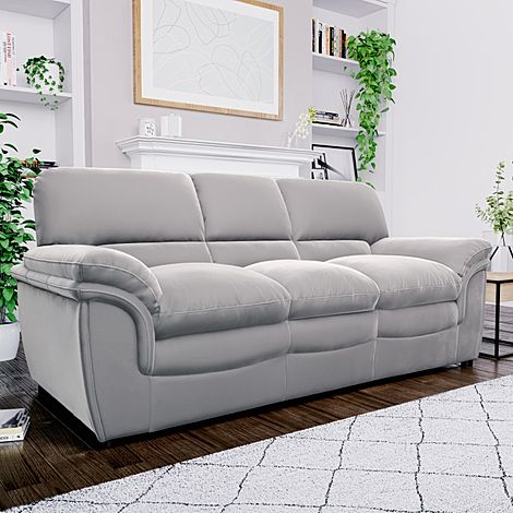 Rochester Grey Velvet 3 Seater Sofa