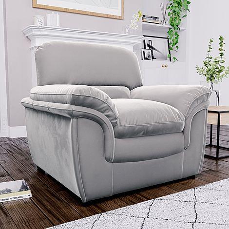 Rochester Grey Velvet Armchair