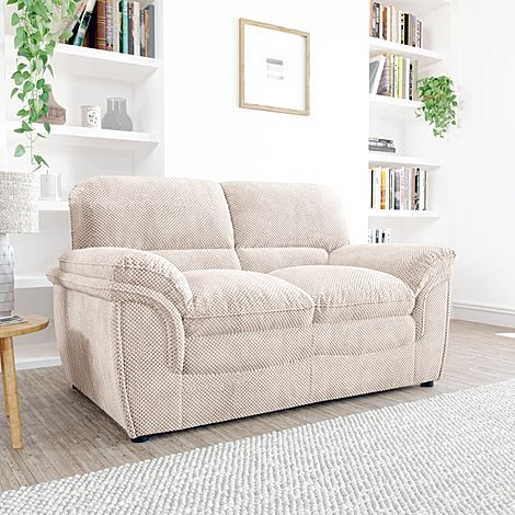 Rochester Natural Dotted Cord Fabric 2 Seater Sofa