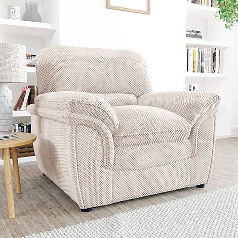 Rochester Natural Dotted Cord Fabric Armchair