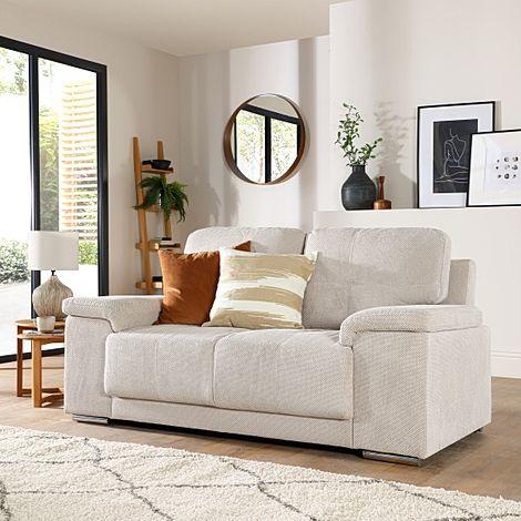 Kansas Natural Dotted Cord Fabric 2 Seater Sofa