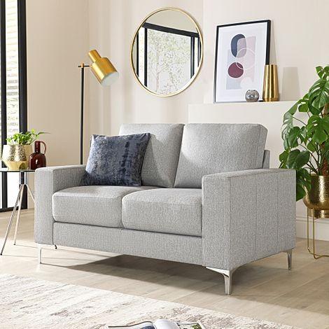 Baltimore Light Grey Fabric 2 Seater Sofa