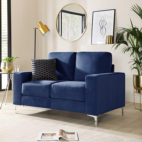 Baltimore Blue Velvet 2 Seater Sofa