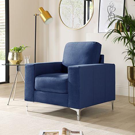 Baltimore Blue Velvet Armchair