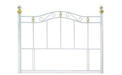 Warwick White Metal Single Headboard