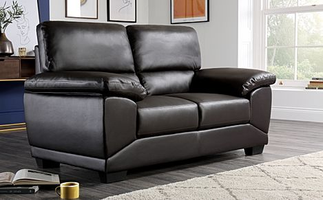 Oregon Brown Leather 2 Seater Sofa