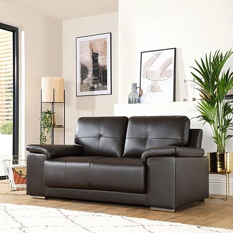 Kansas Brown Leather 2 Seater Sofa