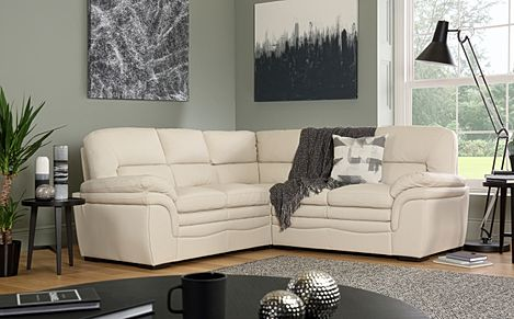 Sutton Ivory Leather Corner Sofa