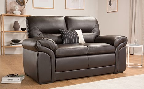 Bromley Brown Leather 2 Seater Sofa