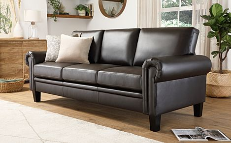 Oakley Brown Leather 3 Seater Sofa
