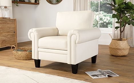 Oakley Ivory Leather Armchair