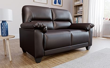 Kenton Small Brown 2 Seater Sofa