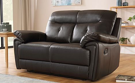 Ellington Brown Leather Recliner Sofa 2 Seater