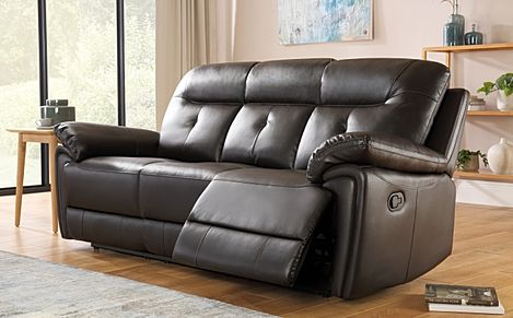 Ellington Brown Leather Recliner Sofa 3 Seater