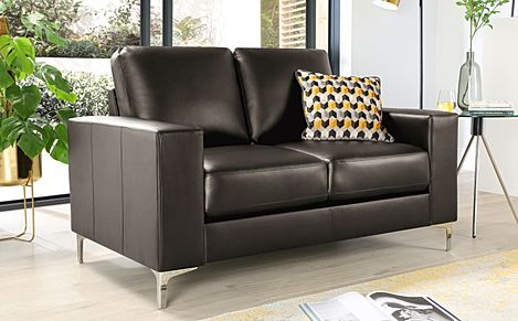 Baltimore Brown Leather 2 Seater Sofa