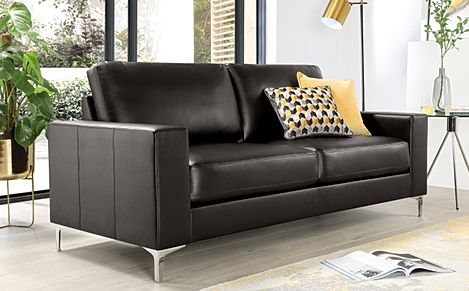 Baltimore Brown Leather 3 Seater Sofa