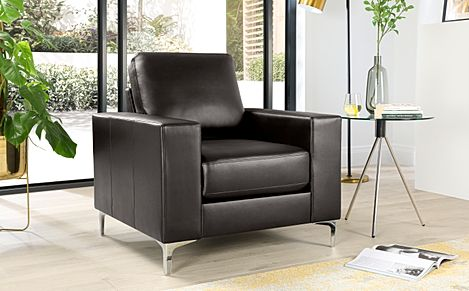 Baltimore Brown Leather Armchair