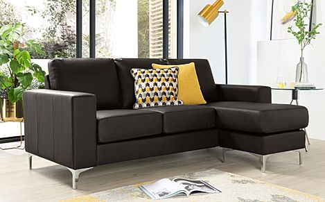 Baltimore Brown Leather L-Shape Corner Sofa