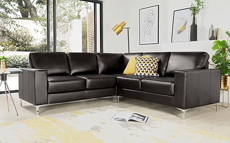 Baltimore Brown Leather Corner Sofa
