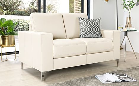 Baltimore Ivory Leather 2 Seater Sofa