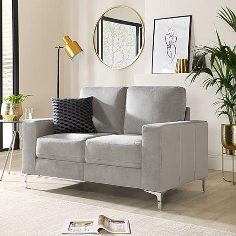 Baltimore Grey Velvet 2 Seater Sofa