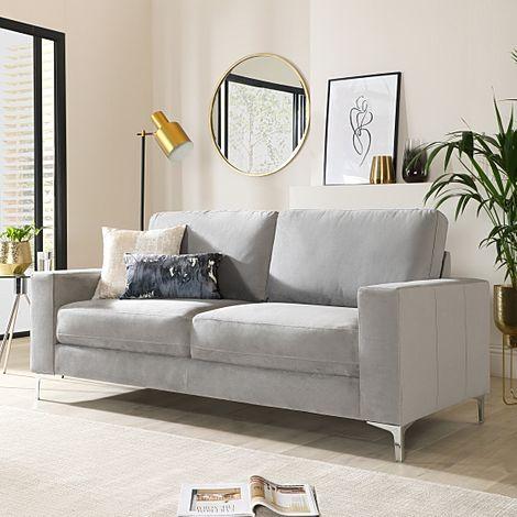 Baltimore Grey Velvet 3 Seater Sofa