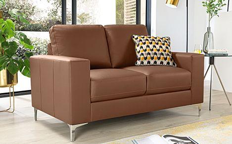 Baltimore Tan Leather 2 Seater Sofa
