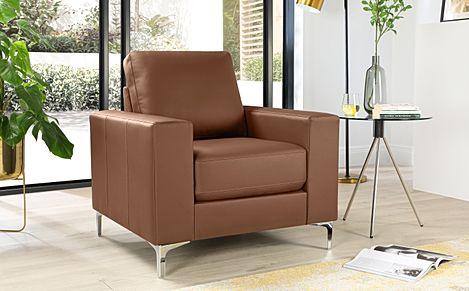 Baltimore Tan Leather Armchair